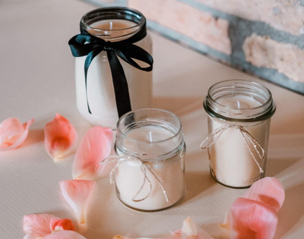 candele con cera di soia